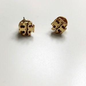 Tory Burch Gold Logo Earrings